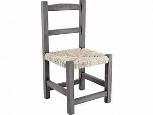 Chaise Bois Enfant : chaise enfant en bois gris ~ Teatrodelosmanantiales.com Idées de Décoration