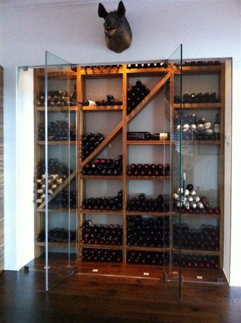 how to make a wine rack in a kitchen cabinet contemporary wine cellar with refrigeration by kessick 9968