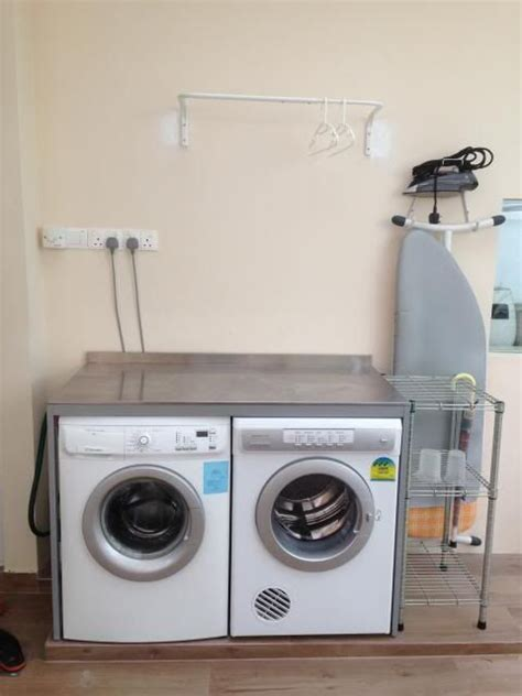 ikea kitchen design ideas udden console from ikea to fit washer and dryer