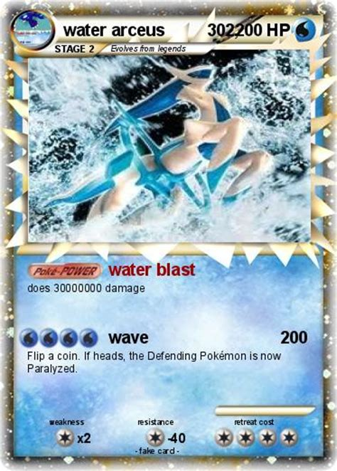 Maybe you would like to learn more about one of these? Pokémon water arceus 302 302 - water blast - My Pokemon Card
