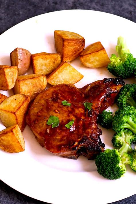 When the butter is melted and the butter/oil mixture is hot, cook 3 pork chops at a time, 2 to 3 minutes on the first side. Baked Bone-in Pork Chops are juicy, tender, sticky and ...
