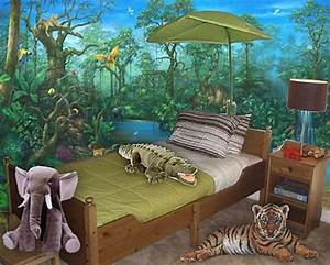 20 jungle themed bedroom for kids rilane for Jungle theme room ideas