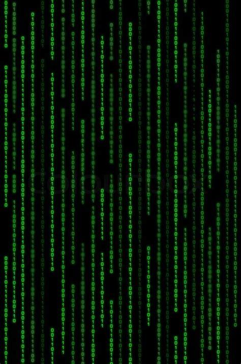 vertical green binary code matrix background stock photo