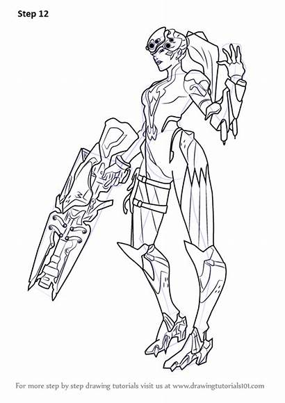 Overwatch Coloring Widowmaker Draw Pages Genji Step