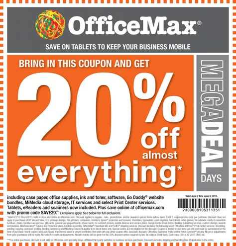 Office Depot Coupons June by Office Max Printable Coupons Printable Coupon Free