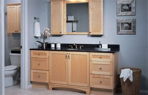 shaker natural maple bathroom cabinets semi custom sold