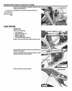 Service Manual    2005 - 2012 Honda Crf450x