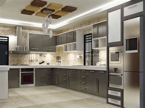 Kitchen Interior Design by April 2014 Apnaghar House Design