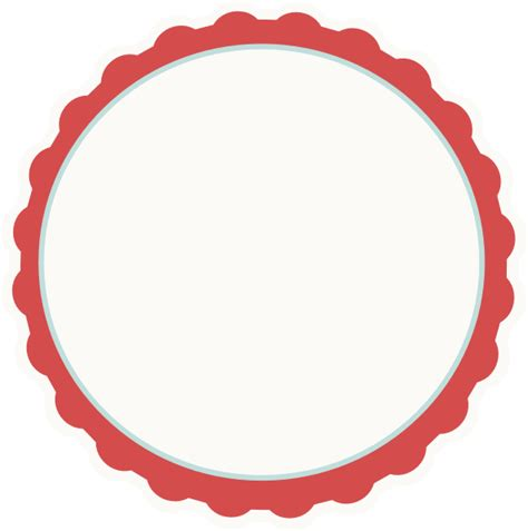 Red ivory aqua Scallop Circle Frame Clip Art at Clker com