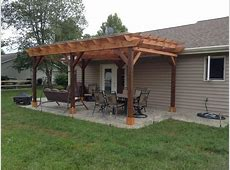 Covered Pergola Plans 12x20' Build DIY Outside Patio Wood