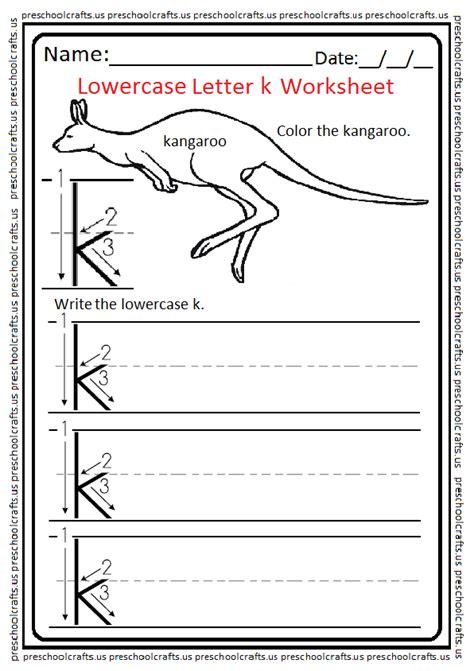 lowercase letter k worksheets free printable preschool