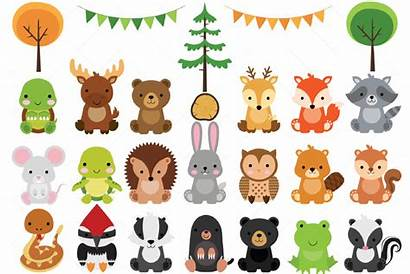 Woodland Animals Clipart Animal Forest Babies Clipartisan