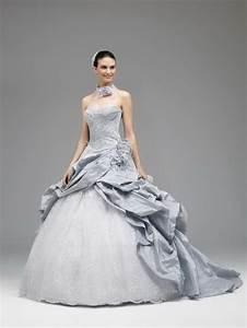 robe de mariee blanche et grise With robe de mariée grise