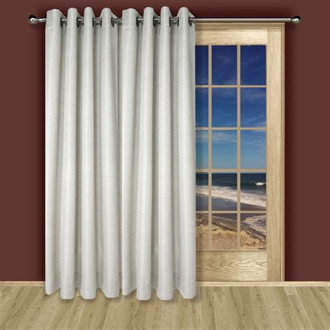 grommet top insulated patio door curtains lined grommet patio panel in 3 colors of grasscloth