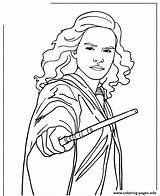 Hermione Potter Harry Coloring Granger Wand Printable Coloriage Holding Ron Hermine Zum Sheets Drawing Drawings Ausmalen Colouring Imprimer Hermelien Characters sketch template