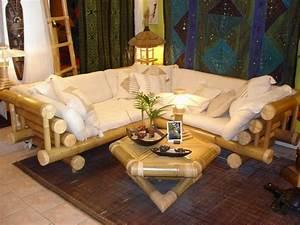 Salon De Jardin Bambou : mobilier exterieur bambou ~ Teatrodelosmanantiales.com Idées de Décoration
