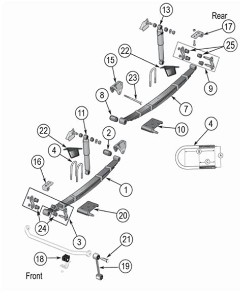 jeep cj suspension parts exploded view diagram years