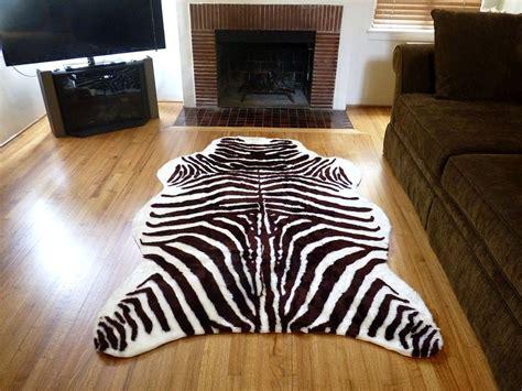 Zebra Cowhide Rug Ikea by Plush Brown White Faux Zebra Hide Rug From