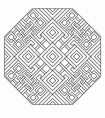 Mandala Coloring Pages Geometric Printable Colouring Adult