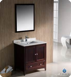 fresca fvn2030mh oxford 30 inch mahogany traditional bathroom vanity fresca vanity fresca