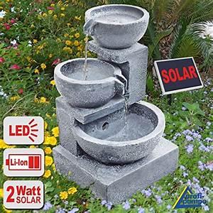 Gartenbrunnen brunnen solar brunnen zierbrunnen vogelbad for Französischer balkon mit wasserpumpe akku garten