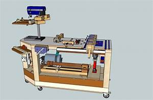 Derang: Woodworking bench for power tools
