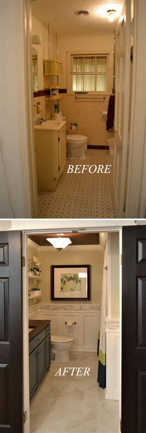 How To Remodel A Small Bathroom On A Budget by 33 Inspirational Small Bathroom Remodel Before And After