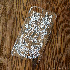Lorrie, Everitt, Studio, Personalize, Your, Clear, Phone, Case, Using, Sharpie, Markers