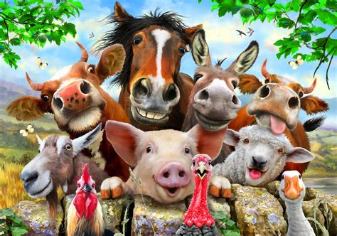 Animal Wallpaper For Walls - farm animals wallpaper 58 images