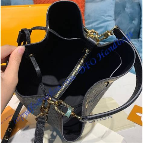 louis vuitton monogram empreinte neonoe mm  black luxtime dfo handbags