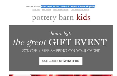 pottery barn promo code pottery barn codes 2018 cyber monday deals on