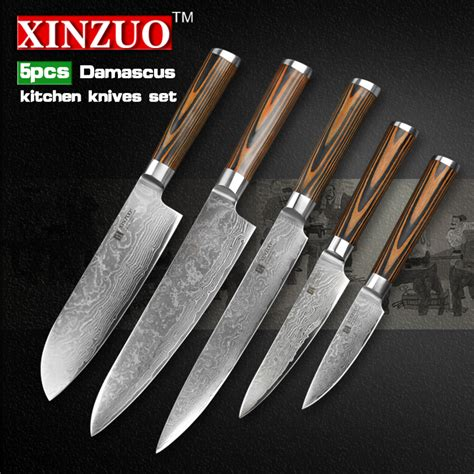 knife damascus kitchen steel japanese chef vg10 utility pcs wholesale layer sets cleaver aliexpress