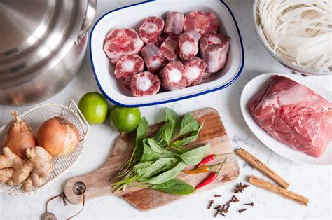 soup ingredients vietnamese pho beef noodle soup eat little bird