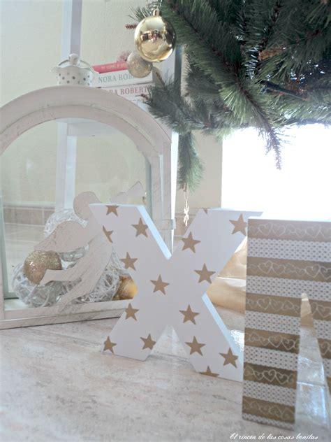 letras de madera decoradas  navidad el rincon de las