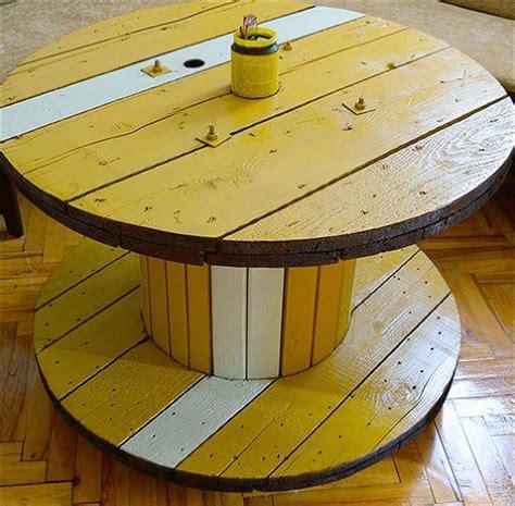 diy cable spool table ideas