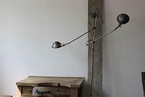 Lampe Murale Industrielle : rare lampe o c white industrielle fixation murale double applique ~ Teatrodelosmanantiales.com Idées de Décoration