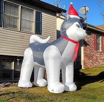 husky christmas airblown inflatable light   yard