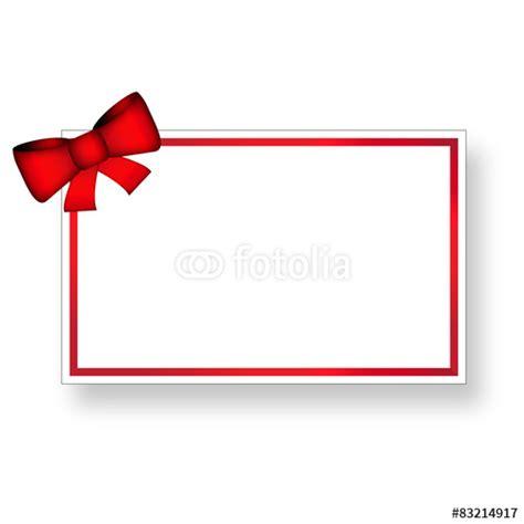 Acquisto Cornici On Line by Quot Biglietto Con Fiocco E Cornice Rossa Quot Stock Image And