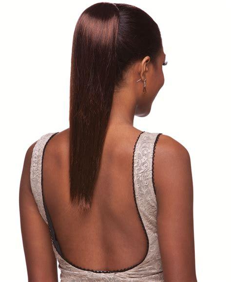 straight draw string hair piece