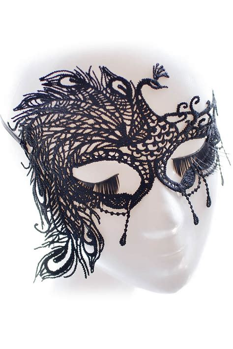 Cheap Wholesale Black Peacock Lace Masquerade Party Mask