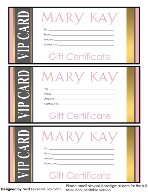 Mary Kay Business Cards Templates Free