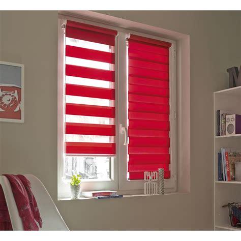 store enrouleur jour nuit inspire rouge rouge n 176 3 56 x