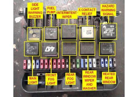 Skoda Felicium Fuse Box Diagram by Skoda Felicia 1995 2001 Wiring Diagram Service Manual