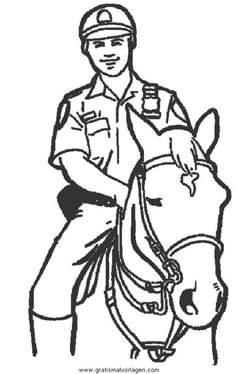 polizei  gratis malvorlage  menschen polizei ausmalen