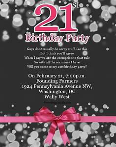 Invitation Letter For 21St Birthday | Letters – Free ...