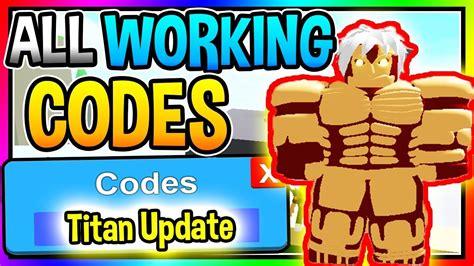 titan update codes  anime fighting simulator