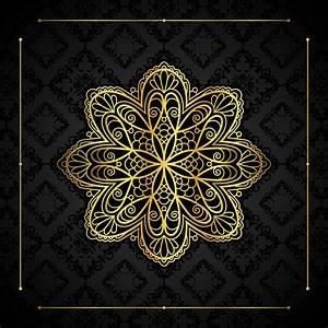 Gold, Border, And, Mandala, 1211455, Vector, Art, At, Vecteezy