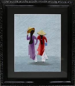 Passe Partout Encadrement : broderie vietnam passe partout noir moulure noire baroque ~ Melissatoandfro.com Idées de Décoration