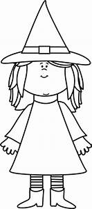 Black and White Witch Clip Art - Black and White Witch Image