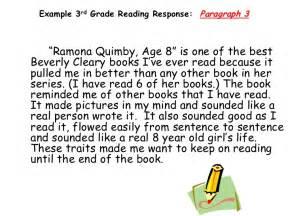 writing paragraphs 2nd grade teaching response to literature 3rd grade